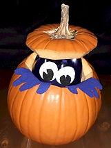 Peek A Boo Pumpkin Monster