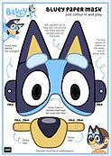 Bluey Paper Mask Printable