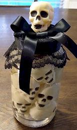 Halloween Skull Jar