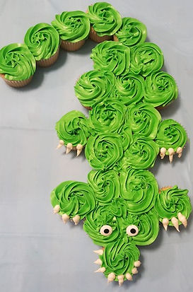 Crocodile Pull Apart Cupcakes