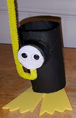 Toilet Paper Roll Snorkeler Scuda Diver
