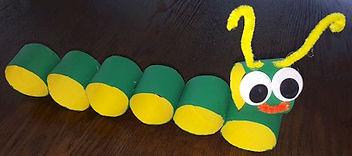 Caterpillar Inch Worm Toilet Paper Roll Craft