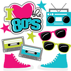 FREE Love the 80s SVG and PNG Files