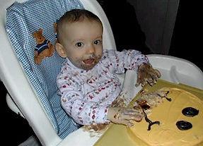 smiley face smash cake