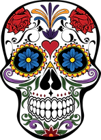 Day of the Dead Skull Clipart