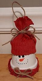 Clay Pot Snowman Ornament
