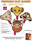 Lion King Printable Masks