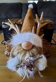 Gold Gnome Antler Hat
