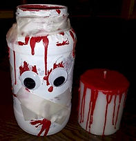 Zombie Jar Bloody Candle