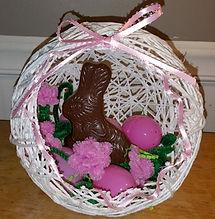 String Egg Chocolate Bunny