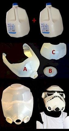 Milk Jug Stormtrooper Mask Pattern