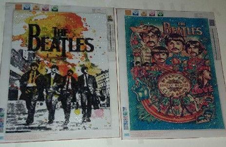 Diamond Painting Beatles Finished