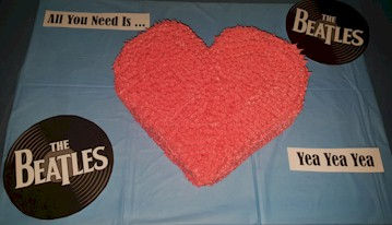 Beatles All You Need Is Love Cake Heart