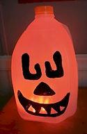 Halloween Orange Milk Jug Pumpkin