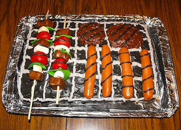 Grill Cake Hamburgs Hotdogs Kabobs