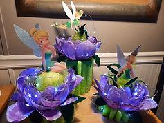 Tinkerbell Plastic Flower Centerpieces