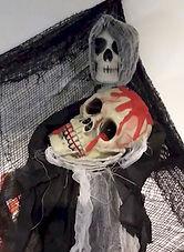 Dollar Store Skeleton With Bloody Skull