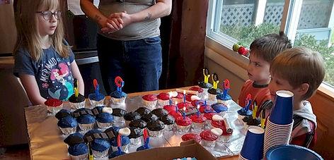 Optimus Prime Pull Apart Cupcakes