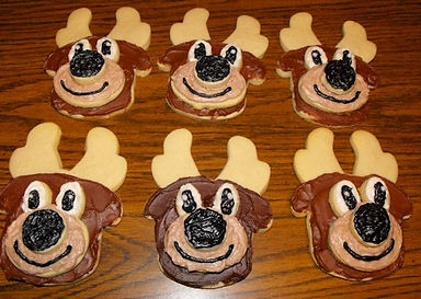3D Reindeer Cookies