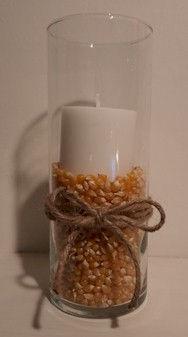 Fall Decorative Corn Candle