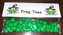 Frog Toes Halloween Treat