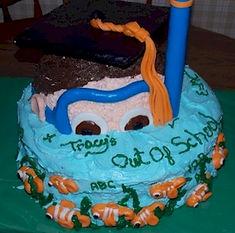 Snorkeler Scuba Diver Cake
