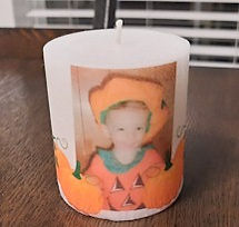 Personalized Halloween Candle