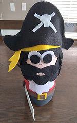 Black Beard Pirate Pop Bottle Craft