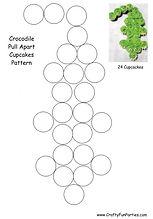 Crocodile Cupcakes Pattern