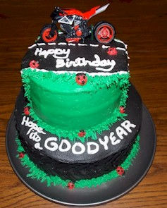 Motorcycle Tire Goodyear Cake