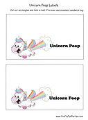 Unicorn Poop Label