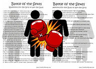 Battle of the Sexes Printable