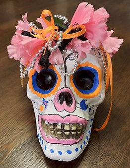 Day Of The Dead Painted Skull