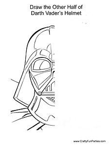 Draw Half of Darth Vaders Helmet