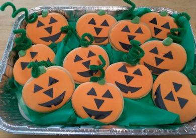 Stenciled Pumpkin Cookies Pumpkin Patch