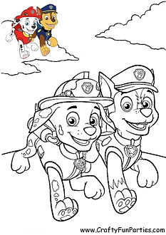Paw Patrol Color Chase and Marshall