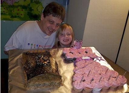Pull a Part Princess Dress Cupcakes BodyArmor Cake