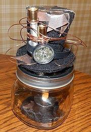 Steampunk Candle Jar 2