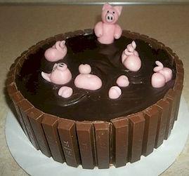 Pig Mud Bath Hot Tub Cake