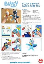 Bluey and Bingo Paper Tube Toys