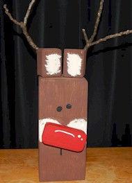 4x4 wood reindeer