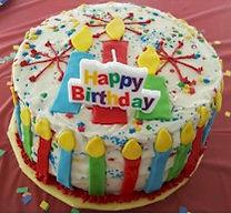 Fondant Candle Birthday Cake