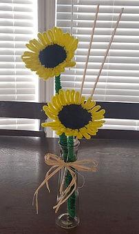 Pipe Cleaner Sunflower Vase