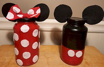 Mickey Minnie Glass Jars