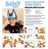 Bluey and Bingo Ear Hats