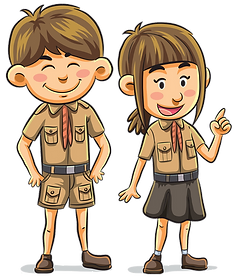 Boy Scout Girl Scout Clipart