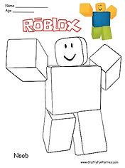 RoBlox Noob Coloring Page