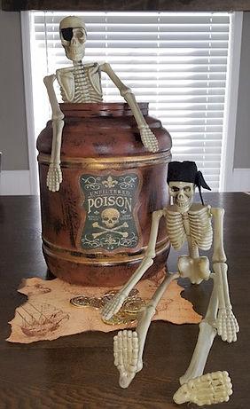 Pirate Rum Barrel and Skeletons