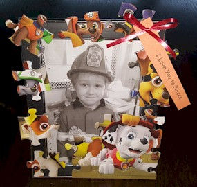 Puzzle Piece Picture Frame Father's Day
