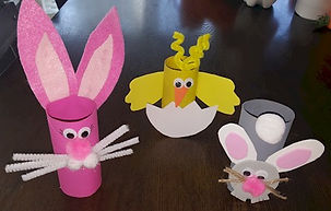 Toilet Paper Roll Bunnies and Chick